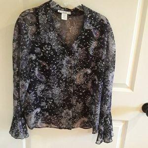 Fancy long sleeve blouse